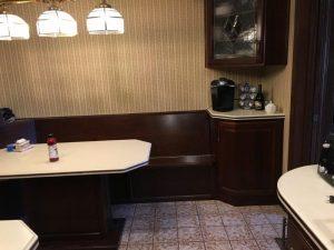 Louisville Interior Designer, Louisville Renovation Designer, Kitchen Renovation, Kitchen Design, White Kitchen Cabinets, Granite Countertops, Subway Tile Backsplash, Stainless Appliances, Kitchen Island, Glass Kitchen Cabinet Doors, Hardwood Floors, Stainless Apron Front Sink, Kitchen Lighting