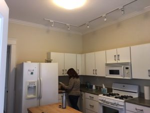 Louisville Kitchen Renovation, Louisville Kitchen Interior Designer, Kitchen Renovation, Interior Designer, Louisville, Beautiful Kitchen Renovation, White Kitchen Cabinets, Kitchen Island, Hardwood Flooring, Stainless Appliances, Kitchen Lighting, Sitting Area