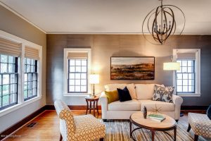 Louisville Kentucky Home Staging, Louisville Kentucky Interior Designer, Louisville Kentucky Renovation Designer, Lexington Road, Residential Home Staging, Gleaming Hardwood Flooring, Stained Trim, Great Room