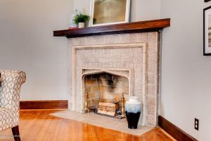 Louisville Kentucky Home Staging, Louisville Kentucky Interior Designer, Louisville Kentucky Renovation Designer, Lexington Road, Residential Home Staging, Gleaming Hardwood Flooring, Stained Trim, Fireplace