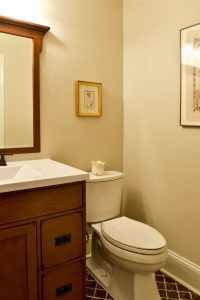 Louisville Kentucky Bath Renovation, High-Profile Lavatory, Craftsman Style Cabinetry