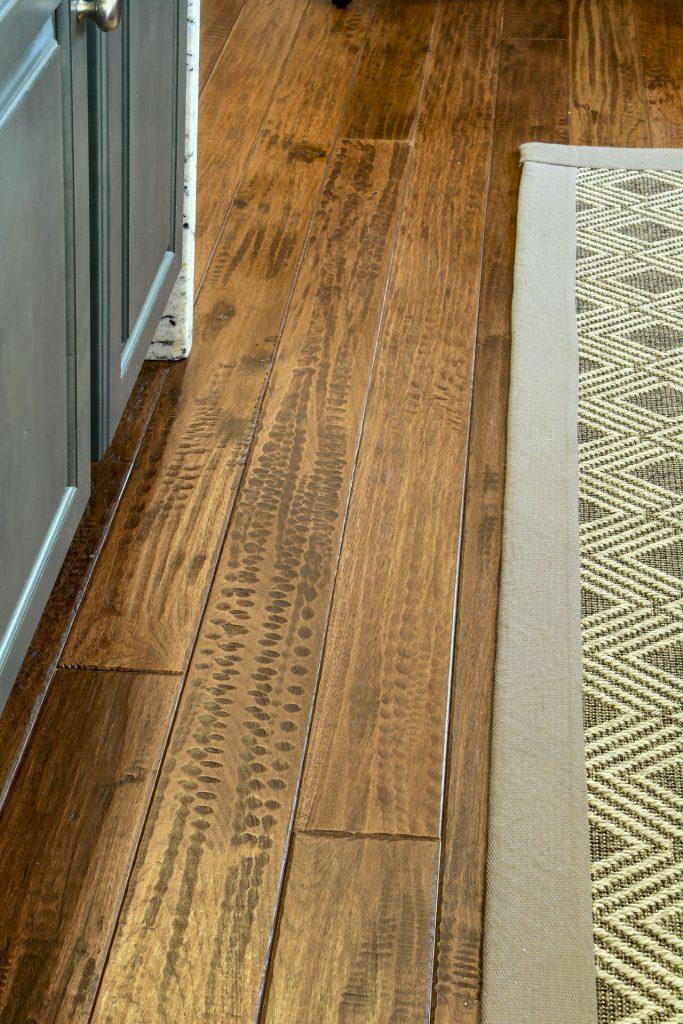 Louisville Kentucky Home Renovation, Kitchen Renovation, Hand Scraped Hickory Floor