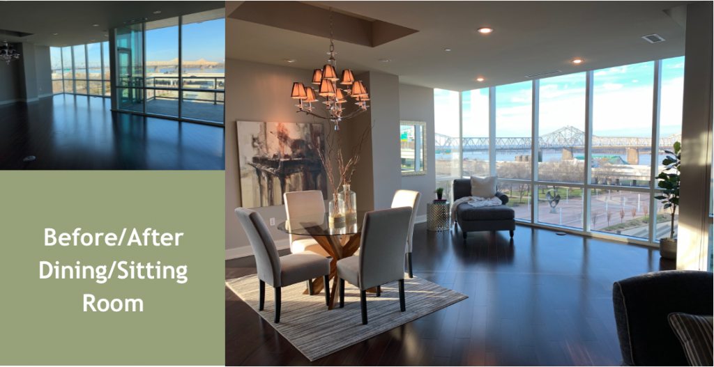Living Spaces By Lyn, Louisville Kentucky Home Staging, 222 E. Witherspoon, Residential Home Staging, Jodie Wild, Jennifer Tegeler, Laurie Vannarsdall, Downtown Louisville Urban Loft, Loft Living, Louisville, Kentucky, Keller Williams